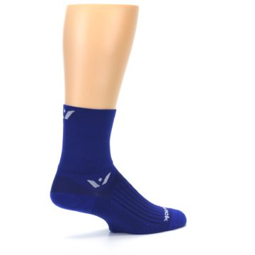 Image of Cobalt Blue Solid Men's Crew Athletic Socks (side-1-23)
