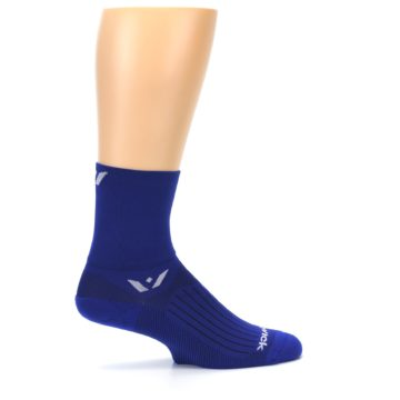 Image of Cobalt Blue Solid Men's Crew Athletic Socks (side-1-24)