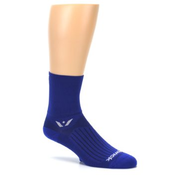 Image of Cobalt Blue Solid Men's Crew Athletic Socks (side-1-26)
