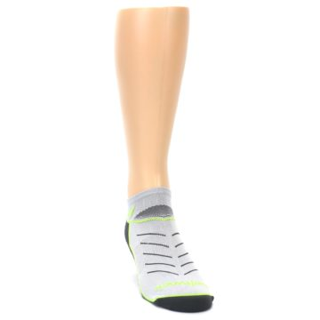 Image of Gray Lime Vibe Zero Men's No-Show Athletic Socks (side-1-front-03)