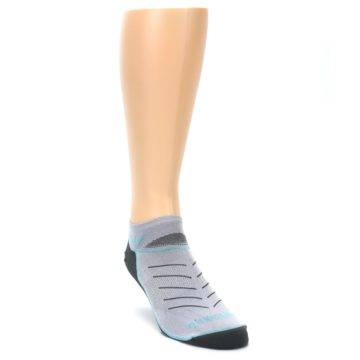 Image of Gray Mint Vibe Zero Men's No-Show Athletic Socks (side-1-front-02)