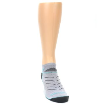 Image of Gray Mint Vibe Zero Men's No-Show Athletic Socks (side-1-front-03)