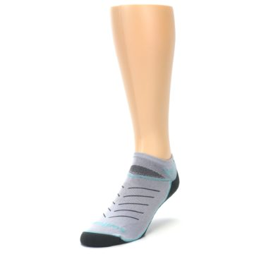 Image of Gray Mint Vibe Zero Men's No-Show Athletic Socks (side-2-front-07)