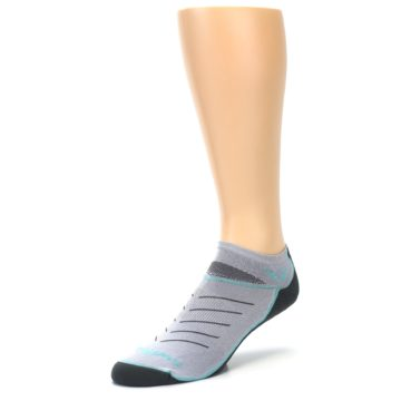 Image of Gray Mint Vibe Zero Men's No-Show Athletic Socks (side-2-front-08)
