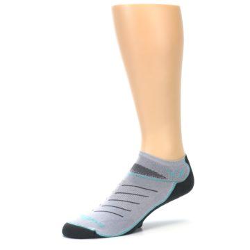 Image of Gray Mint Vibe Zero Men's No-Show Athletic Socks (side-2-09)