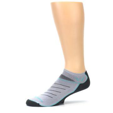 Image of Gray Mint Vibe Zero Men's No-Show Athletic Socks (side-2-10)