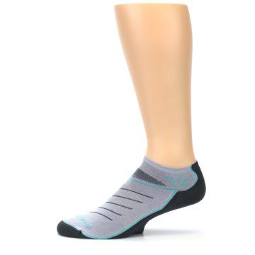 Image of Gray Mint Vibe Zero Men's No-Show Athletic Socks (side-2-11)
