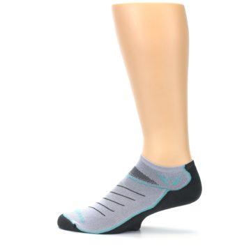 Image of Gray Mint Vibe Zero Men's No-Show Athletic Socks (side-2-12)