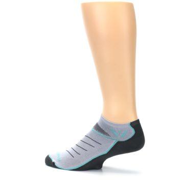 Image of Gray Mint Vibe Zero Men's No-Show Athletic Socks (side-2-13)