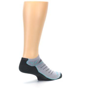 Image of Gray Mint Vibe Zero Men's No-Show Athletic Socks (side-1-back-22)