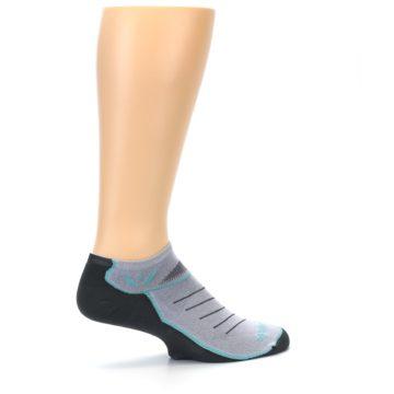 Image of Gray Mint Vibe Zero Men's No-Show Athletic Socks (side-1-23)