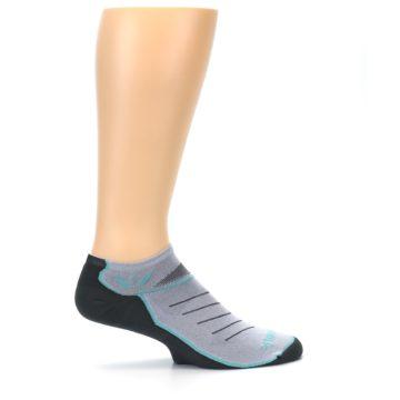 Image of Gray Mint Vibe Zero Men's No-Show Athletic Socks (side-1-24)