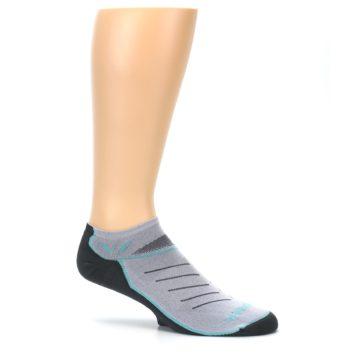 Image of Gray Mint Vibe Zero Men's No-Show Athletic Socks (side-1-25)
