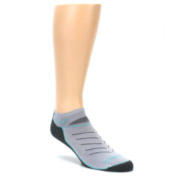 Image of Gray Mint Vibe Zero Men's No-Show Athletic Socks (side-1-27)