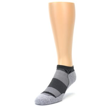 Image of Gray Maxus Zero Men's No-Show Athletic Socks (side-2-front-07)