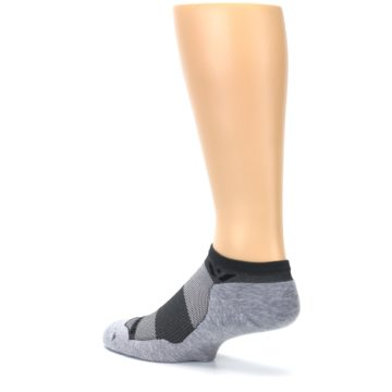 Image of Gray Maxus Zero Men's No-Show Athletic Socks (side-2-back-14)