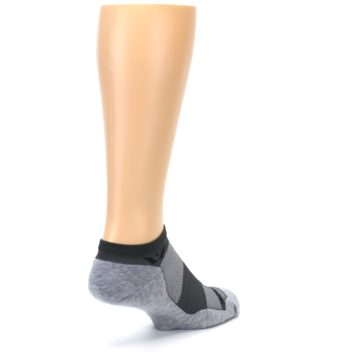 Image of Gray Maxus Zero Men's No-Show Athletic Socks (side-1-back-21)