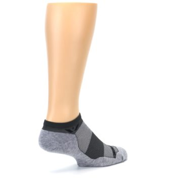 Image of Gray Maxus Zero Men's No-Show Athletic Socks (side-1-back-22)