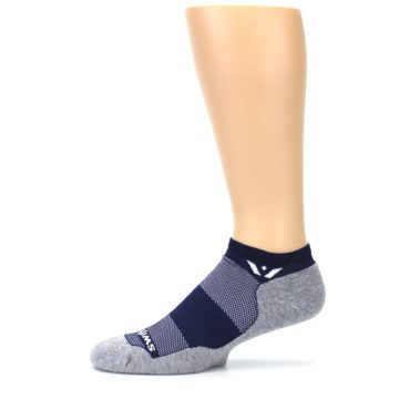 Image of Gray Navy Maxus Zero Men's No-Show Athletic Socks (side-2-11)