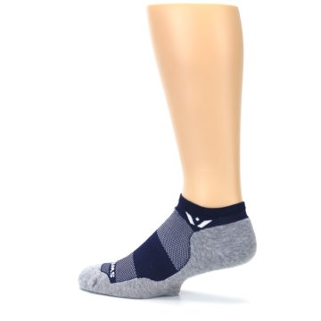 Image of Gray Navy Maxus Zero Men's No-Show Athletic Socks (side-2-13)