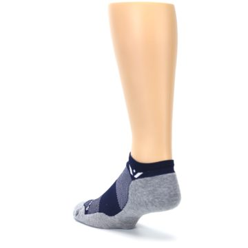 Image of Gray Navy Maxus Zero Men's No-Show Athletic Socks (side-2-back-15)