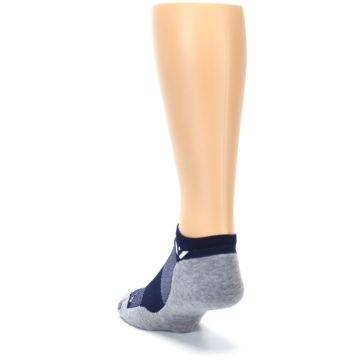 Image of Gray Navy Maxus Zero Men's No-Show Athletic Socks (side-2-back-16)