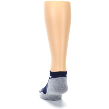 Image of Gray Navy Maxus Zero Men's No-Show Athletic Socks (back-17)