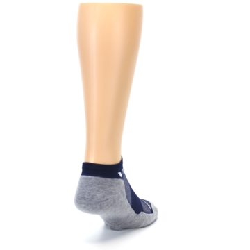 Image of Gray Navy Maxus Zero Men's No-Show Athletic Socks (side-1-back-20)