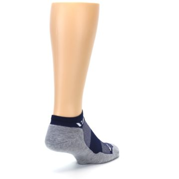 Image of Gray Navy Maxus Zero Men's No-Show Athletic Socks (side-1-back-21)