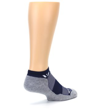 Image of Gray Navy Maxus Zero Men's No-Show Athletic Socks (side-1-back-22)