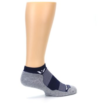 Image of Gray Navy Maxus Zero Men's No-Show Athletic Socks (side-1-23)