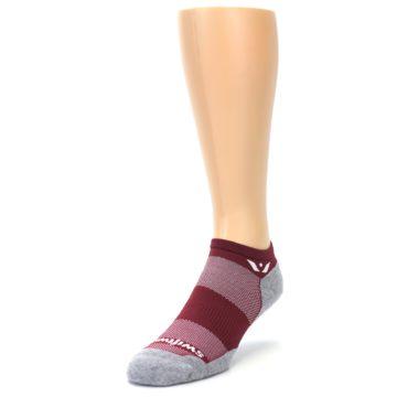 Image of Gray Crimson Maxus Zero Men's No-Show Athletic Socks (side-2-front-07)