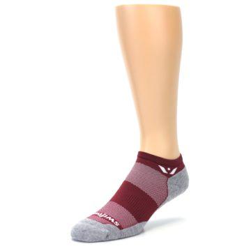 Image of Gray Crimson Maxus Zero Men's No-Show Athletic Socks (side-2-front-08)