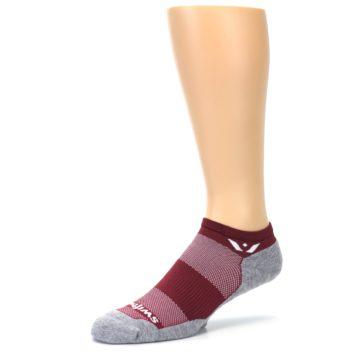 Image of Gray Crimson Maxus Zero Men's No-Show Athletic Socks (side-2-09)