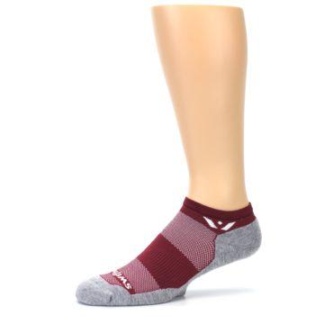 Image of Gray Crimson Maxus Zero Men's No-Show Athletic Socks (side-2-10)