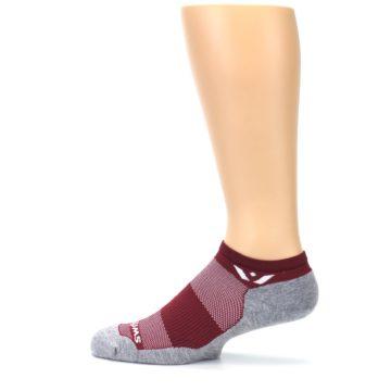 Image of Gray Crimson Maxus Zero Men's No-Show Athletic Socks (side-2-12)