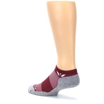Image of Gray Crimson Maxus Zero Men's No-Show Athletic Socks (side-2-back-14)