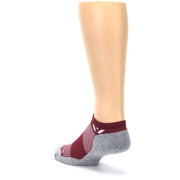 Image of Gray Crimson Maxus Zero Men's No-Show Athletic Socks (side-2-back-15)