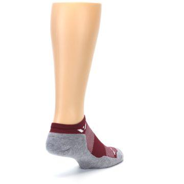 Image of Gray Crimson Maxus Zero Men's No-Show Athletic Socks (side-1-back-21)