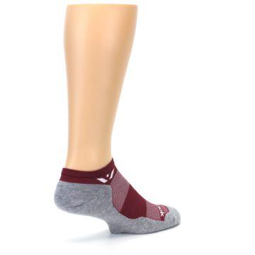 Image of Gray Crimson Maxus Zero Men's No-Show Athletic Socks (side-1-back-22)