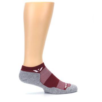 Image of Gray Crimson Maxus Zero Men's No-Show Athletic Socks (side-1-24)