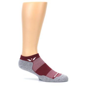 Image of Gray Crimson Maxus Zero Men's No-Show Athletic Socks (side-1-25)