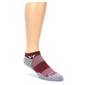 Image of Gray Crimson Maxus Zero Men's No-Show Athletic Socks (side-1-27)