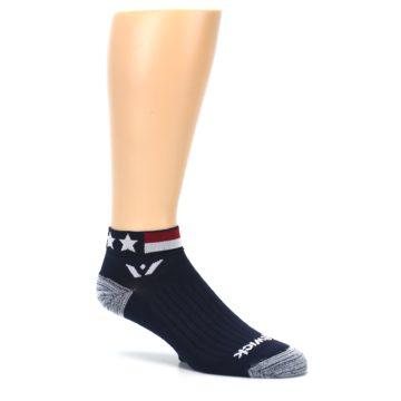 Image of Navy American Flag Men's Ankle Athletic Socks Socks (side-1-26)