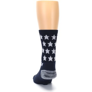 Image of Navy American Flag Men's Crew Athletic Socks (back-17)