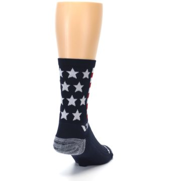 Image of Navy American Flag Men's Crew Athletic Socks (side-1-back-20)