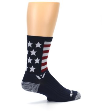 Image of Navy American Flag Men's Crew Athletic Socks (side-1-23)