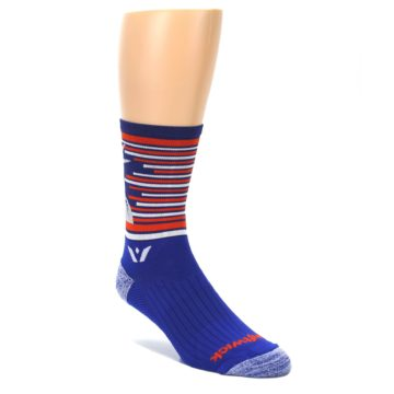 Image of Blue Orange Statue of Liberty Men's Crew Athletic Socks (side-1-front-01)