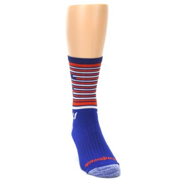 Image of Blue Orange Statue of Liberty Men's Crew Athletic Socks (side-1-front-03)