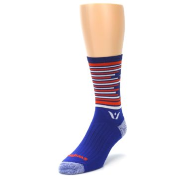 Image of Blue Orange Statue of Liberty Men's Crew Athletic Socks (side-2-front-07)